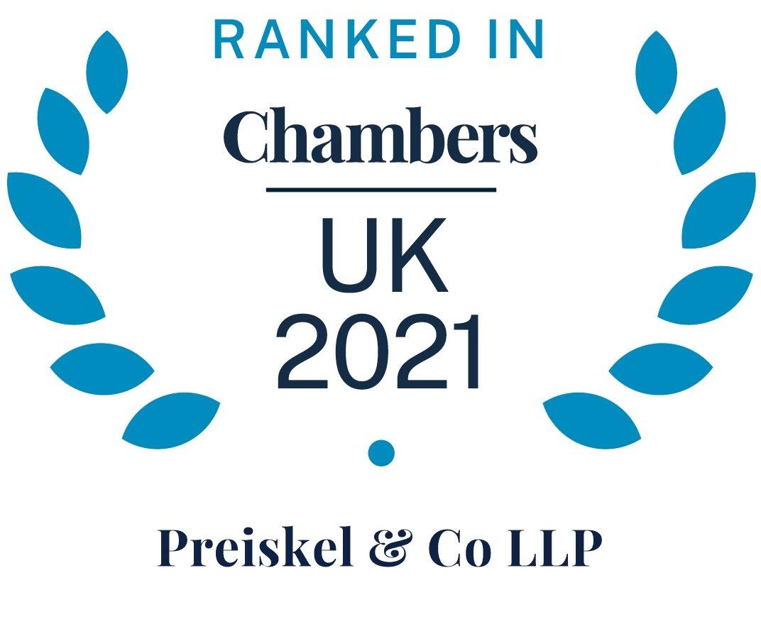 Ranked in Chambers UK 2021